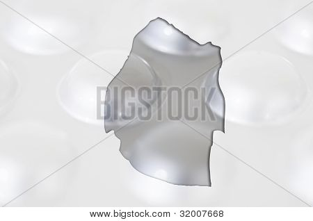 Outline Map Of Swaziland With Pills In The Background For Health And Cure