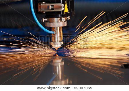 Tecnologia industrial da fabricação de processamento de corte Laser de chapa plana aço material com s