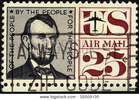 Imagem do selo do presidente Abraham Lincoln