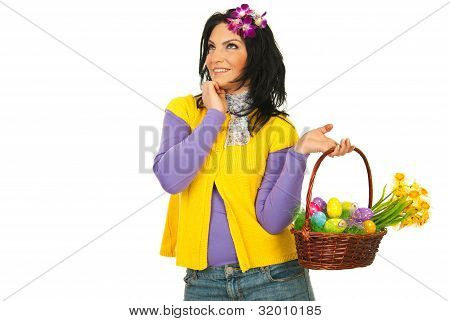 Dreaming Easter Woman