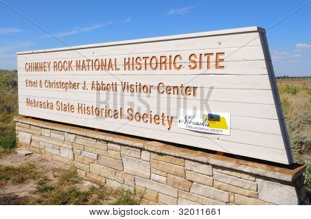 Chimney Rock National Historic Site sign