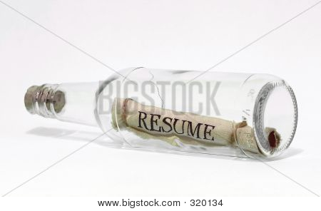 Resume In A Bottle White