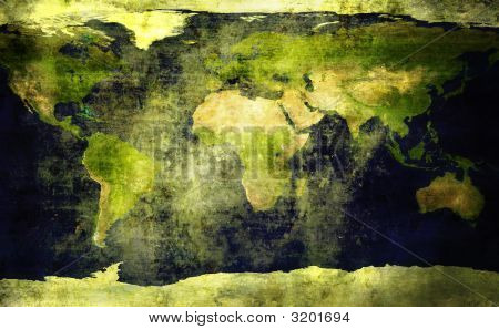 Old, Grunge World Map