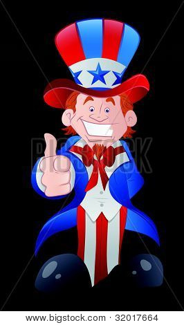 Happy Young Uncle Sam