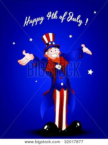 Happy Uncle Sam Greeting Card