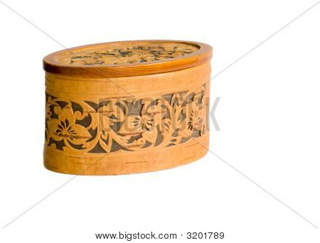 Birch Bark Casket Isolated On White
