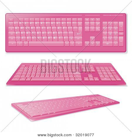 Sexy Pink Keyboard, Vector Illustration