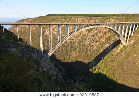 Bridge Crossing A Canyon