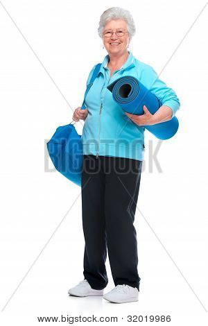 Attractive Senior Woman At Health Club,