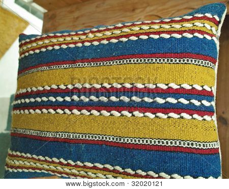Vintage Handwoven Pillowcase With Handmade Embroidery