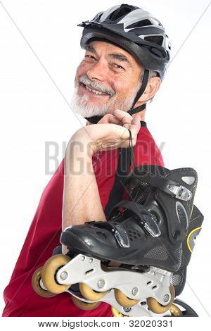 Senior Man Inline-skating