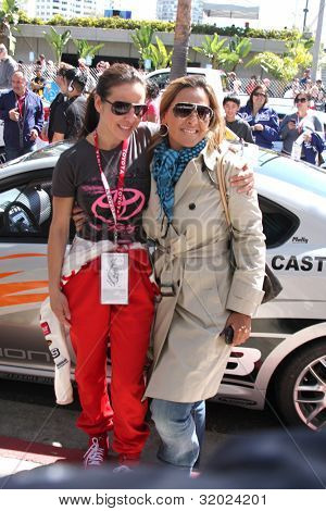 LOS ANGELES - APR 14:  Kate del Castillo, sister Veronica del Castillo at the 2012 Toyota Pro/Celeb Race at Long Beach Grand Prix on April 14, 2012 in Long Beach, CA.