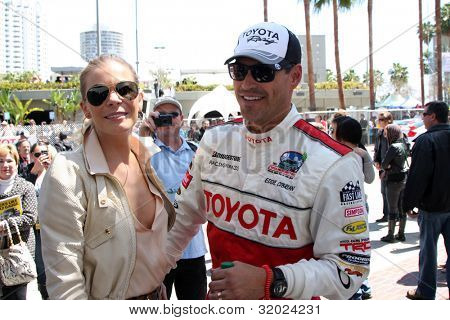 LOS ANGELES - APR 14:  LeAnn Rimes, Eddie Cibrian at the 2012 Toyota Pro/Celeb Race at Long Beach Grand Prix on April 14, 2012 in Long Beach, CA.