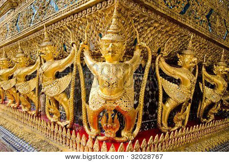Thailand,The grand palace.Golden Garuda