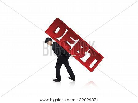 Man Struggling With Large Debt