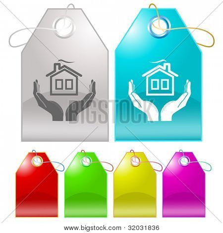 comfort in hands. Raster tags. Vector version is in my portfolio.