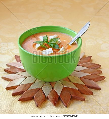 Soup Of Puree From A Carrot