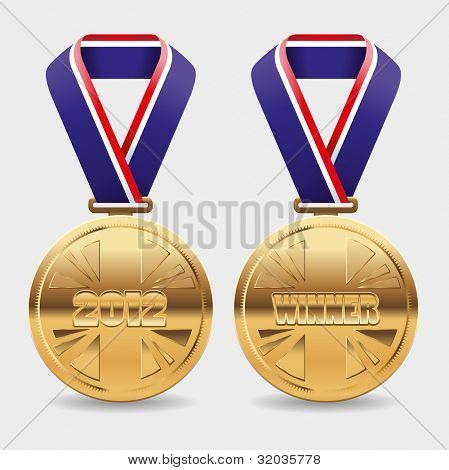 Gold vector medals with area to place your own copy
