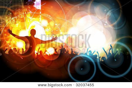Music event background