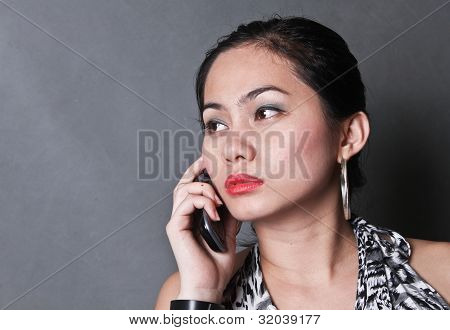 Lady With Cellphone