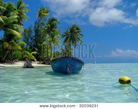 Blue Skiff Bora Bora Lagoon