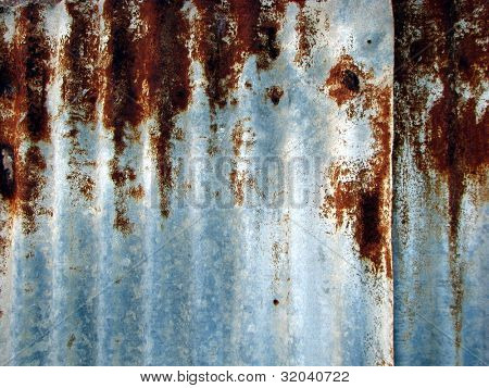 Rusty Corrugated Iron Background 1
