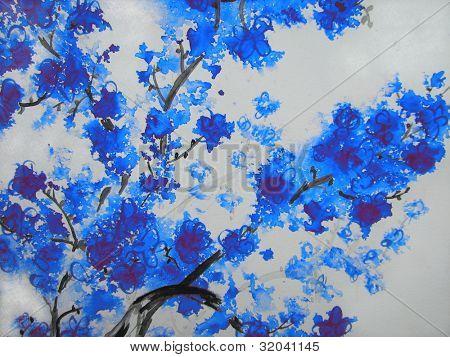 Blue Cherry Blossoms 1