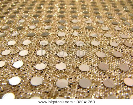Macro Gold Sequin Fabric