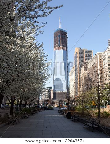 Freedom Tower Under Construction New York