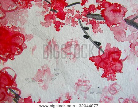 Cherry Blossoms Watercolor 7