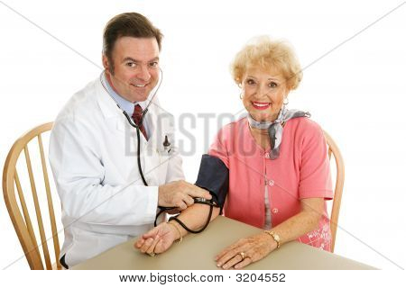Senior Medical - Taking Blood Pressure