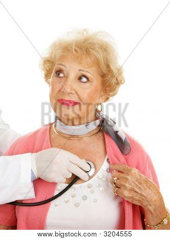 Checkup médico sênior