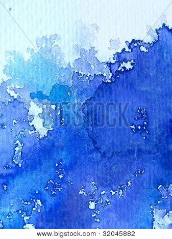 blau Aquarell auf strukturierten Papier 5