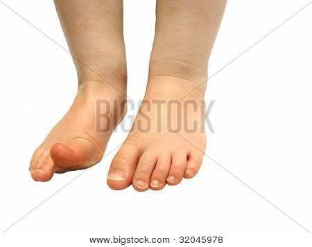 Small Child's Feet isolated on white background