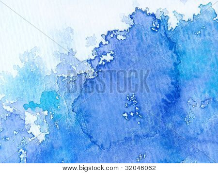 Blue & White Watercolor Background