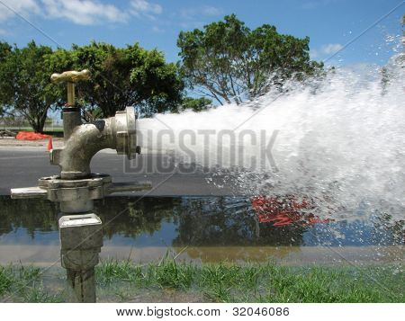 Flushing Water Pipes