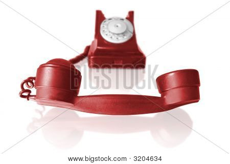 Telephone Receiver Of Vintage Phone