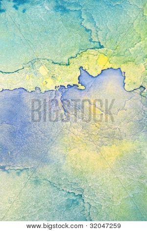 Blue with yellow watercolor background 7