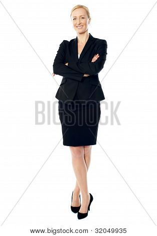 Attractive Senior Manager Of A Company Posing