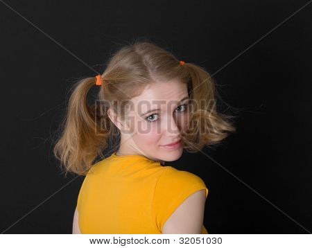 Girl With Ponytail
