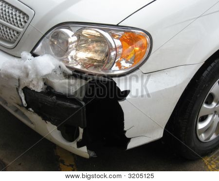 Damaged Car Fender - Auto Collision