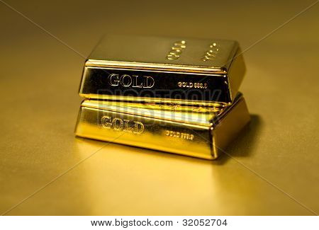Gold Bullion On Golden