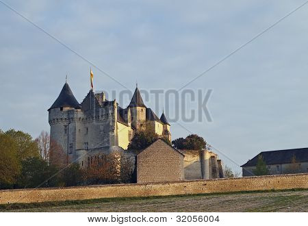 Motte Castle At Sunrise, Usseau ,  France.