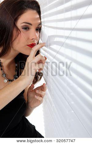 Curious woman