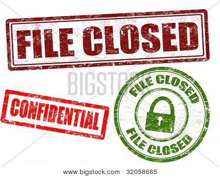 File Closed, Confidential Stamps
