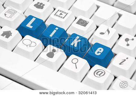 Like Text On  Keyboard