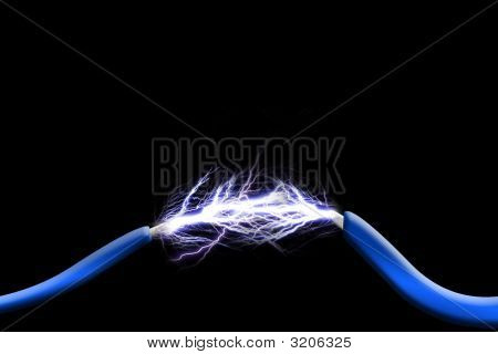 Sparks Between Two Wires