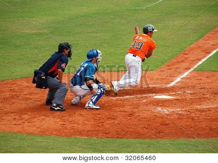 Professional Baseball Game In Taiwan