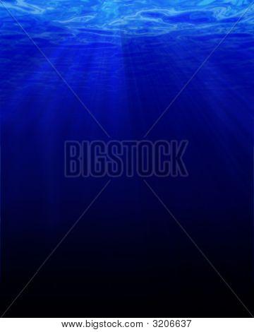 Tiefes Blau Unterwasser