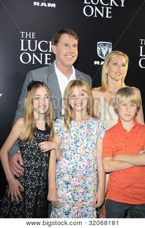 LOS ANGELES - APR 16: Nicholas Sparks, family at the premiere of Warner Bros. Pictures' 'The Lucky One' at Grauman's Chinese Theatre on April 16, 2012 in Los Angeles, California